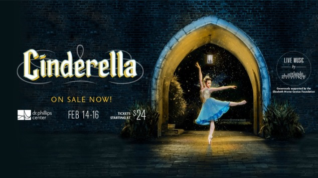 Promotional poster of Cinderella ballet at Dr. Phillips Center for the Performing Arts