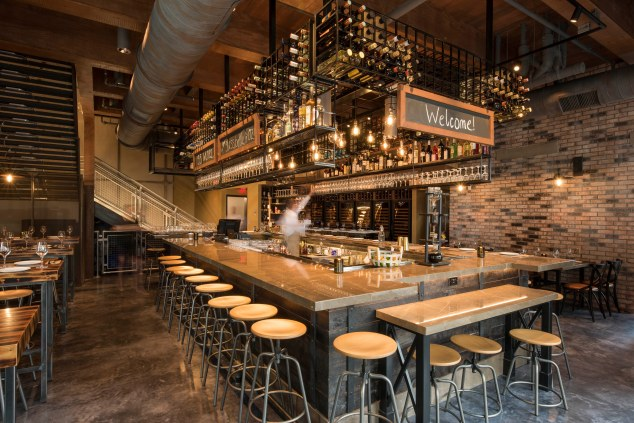 Photo of indoor bar at Wine Bar George